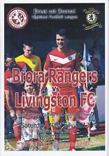 Brora Rangers v Livingston 20 Jul 2013