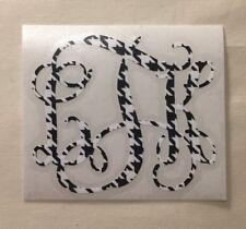 Houndstooth Vine Monogram Vinyl Decal Sticker for Yeti Tumbler iPhone