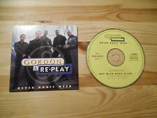 CD Pop Gordon / Re-Play  - Never Nooit Meer (2 Song) ARCADE / CNR MUSIC