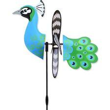 "15"" Peacock-Petite Garden Wind Spinner - Yard Stake - Garden Decor"