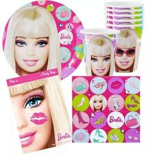Barbie Party Supplies Party Pack 40, 8 Plates,Cups, Lootbags, 16 Napkins