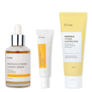 iUNIK Propolis Vitamin Korean Skincare Set: Serum Eye Cream Mask [UK]