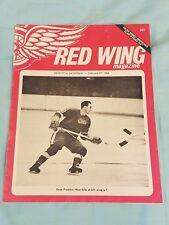 1966 Detroit Red Wing Wings Hockey Magazine Program Olympia Stadium Gordie Howe!