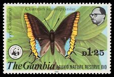 "GAMBIA 407 (SG434) - WWF Abuko Reserve ""Foxy Charaxes Butterfly"" (pf17443)"
