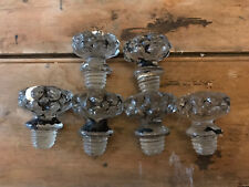Vintage 1960s Screw In Glass Drawer Cupboard Door Knob Handles