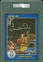 Lakers James Worthy Signed 1985  5x7 Star Auto Card PSA/DNA Slabbed #83514348