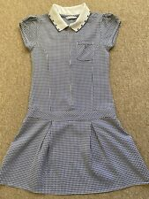 Girls Gingham School Dress From Marks And Spencer 8-9 Years