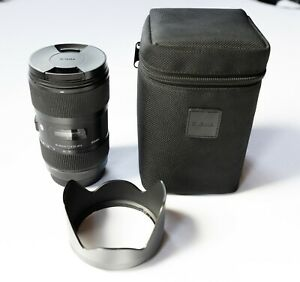 Sigma 18-35mm f/1.8 DC HSM Art Lens for Canon EF w/ Lens Hood and Soft Pouch