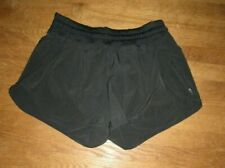 Lululemon Women's TRACKER SHORTS lll 4-Way Stretch Black Size 10 EUC