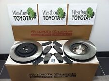 Toyota Sienna 2011-2018 New Genuine Front Brake Rotors & TCMC Pads & Shims