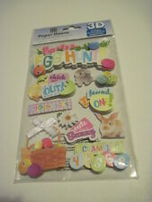 Scrapbooking Crafts 3D Stickers Paper House Easter Egg Hunt Bunny Chick Coloring