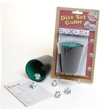 NEW RETRO DICE GAME SET WITH SHAKER CUP AND 6 DICE ACKERMAN