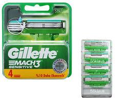 Gillette Mach3 Sensitive Rasierklingen in OVP bzw. im Blister 4 8 12 16 20 24 32