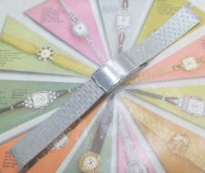 NOS 1960 Kreisler Gents ALL Stainless FANCY MESH 17.5mm Wristwatch Bracelet W@W