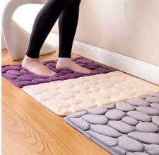 Bathroom carpet Pebble Flannel pad Floor Carpet Set Mattress for Bathroom Decor