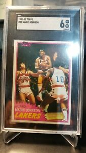 Magic Johnson Lakers 1981-1982 Topps #21 SGC 6