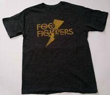 Foo Fighters 2007 Lightning Bolt T-Shirt Heather Grey S Official Graphic Tee Dav