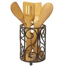 Heavyweight Rust Resistant Countertop Bronze Kitchen Cutlery & Utensil Holder
