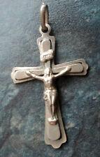 Vintage Italian Sterling Silver Cross / Crucifix  -  Uno A Erre  -  Italy