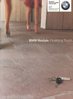 BM1275 BMW lifestyle Prospekt 2001 9/00 spanish brochure accessorios colleccción