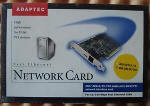 Adaptec ANA-6911A/TXC Single Port 32 bit PCI network card 90 day RTB Warranty