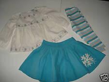 Baby Gap SNOWFLAKE Swing Top Skirt Leggings 12-18 LN