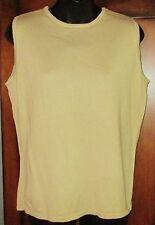 Merona Gold Color Sleeveless Sweater Size L EUC Womens Round Neck Large