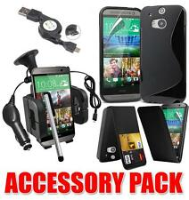 7 X ACCESSORY BUNDLE KIT FOR HTC ONE M8 AND CASE CAR HOLDER CHARGER