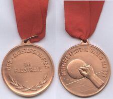 ORIG. MEDAGLIA bronzo sul nastro DDR-Meisterschaft 1981/PUGNO PALLA rarità!!!