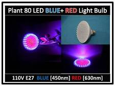Type A Plant Blue & Red Max Grow 80LED Light Bulb 110V E27 USA EngineerCertified