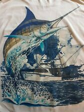 Guy Harvey 2006 White T-shirt Florida Marlin and Boat size Large. Great graphics