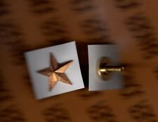 "USN Navy Rank Gold Star screwback sb badge 3/4"" inch"