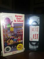 Barney - Barney Goes to School (VHS, 1989) SING ALONG EDUCATIONAL FREE SHIPPING