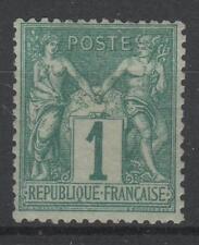 "FRANCE STAMP TIMBRE  N° 61  "" TYPE SAGE 1 c VERT 1876 "" NEUF x TB   N758"