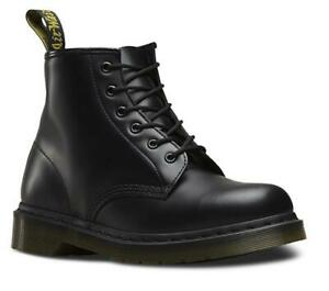 DOC MARTENS DR MARTENS 101 SMOOTH BLACK LEATHER BOOTS BRAND NEW WITH TAGS