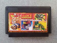 RARE Famicom 4 in 1 Games Turtles 1,4 Dragon Ball Z (Nintendo, Dendy, NES) 8 bit