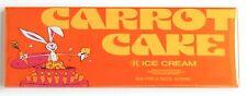 Carrot Cake Ice Cream FRIDGE MAGNET (1.5 x 4.5 inches) sign rabbit bunny