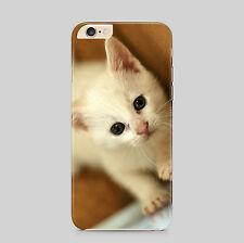 Cute White Cat Cream Kitten Phone Case Cover