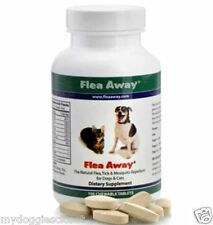 Flea Away plus Tick Mosquito Natural Repellent for Dog & Cat  - 100 Chews  USA