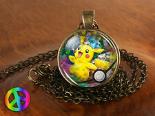 Pikachu Pokemon Cosplay Anime Handmade Fashion Necklace Pendant Jewelry Toy Gift