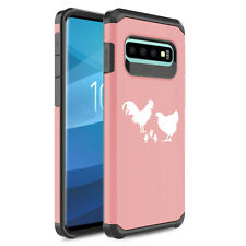 For Samsung Galaxy Shockproof Protective Hard Case Cover Chicken Family