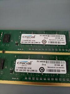 Crucial 16GB (2x 8GB) DDR3 1600 RAM (Ct102464ba160b-c16fnd).