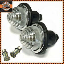 x2 Clear Front Rear Indicator Lamps Lights + LED Bulbs Fits CLASSIC MINI