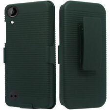 "HTC Desire 530 [5"" Screen] Slim Shell Holster Case Cover Belt Clip - Black"