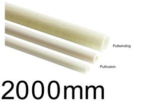 GFK Rohr / GFK Rohre / Glasfaser - Rohr GFK Ø 5 - 30 mm 2000mm Länge Fiberglas