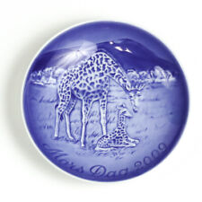 Bing & Grondahl 2009 Mother's Day Collectors Plate, Mors Dag, Giraffe with Calf