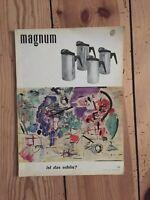MAGNUM ZEITSCHRIFT FÜR DAS MODERNE LEBEN HEFT 10 1956 ZEITUNG ANTIK WOHNEN