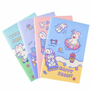 """""""Sweet Bunny"""" Pack of 4 Exercise Book Lined Notepad Notebook"""