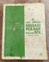1983 Datsun Nissan Pulsar NX Service Shop Repair Manual