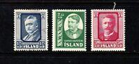 Iceland stamps #284 - 286, complete set, mint & used, SCV $61.20